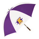 64 Inch Purple/White Umbrella-K Club