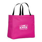 Tropical Pink Essential Tote-Prairie Fire Logo
