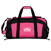 Tropical Pink Gym Bag-Prairie Fire Logo