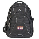 High Sierra Swerve Compu Backpack-Prairie Fire Logo
