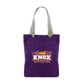 Allie Purple Canvas Tote-Prairie Fire Logo