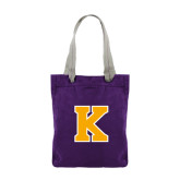 Allie Purple Canvas Tote-K