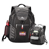 High Sierra Big Wig Black Compu Backpack-Prairie Fire Logo