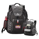 High Sierra Big Wig Black Compu Backpack-Prairie Fire Logo