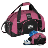 Ogio Pink Big Dome Bag-Prairie Fire Logo