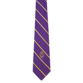 Purple and Gold Striped Tie-