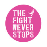 Medium Decal-The Fight Never Stops Distressed, 8 in Tall