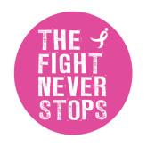 Large Decal-The Fight Never Stops Distressed, 12 in Tall
