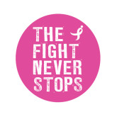 Small Decal-The Fight Never Stops Distressed, 6 in tall