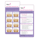 Breast Self Awareness Messages card for an African American Audience 250/pkg-