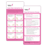 Breast Self Awareness Messages Card in English 250/pkg-