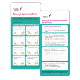 Breast Self Awareness Messages Card in Spanish 250/pkg-