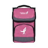 Passion Pink Flap Lunch Cooler-Ribbon