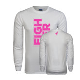 White Long Sleeve T Shirt-Fighter
