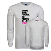 White Long Sleeve T Shirt-Join The Fight.