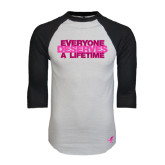 White/Black Raglan Baseball T-Shirt-Everyone Deserves A Lifetime - Stitched