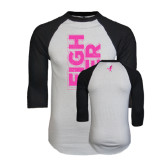 White/Black Raglan Baseball T-Shirt-Fighter