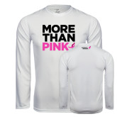 Syntrel Performance White Longsleeve Shirt-More Than Pink