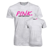 Next Level Heather White Tri Blend Crew-Pink More Than A Color
