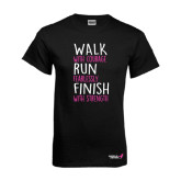 Black T Shirt-Walk Run Finish