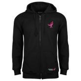 Black Fleece Full Zip Hood-Ribbon
