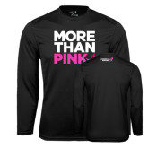 Syntrel Performance Black Longsleeve Shirt-More Than Pink