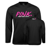 Syntrel Performance Black Longsleeve Shirt-Pink More Than A Color