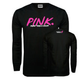 Black Long Sleeve TShirt-Pink More Than A Color