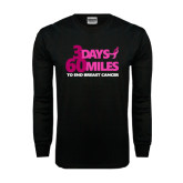 Black Long Sleeve TShirt-3 Days 60 Miles