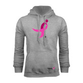 Grey Fleece Hoodie-Ribbon