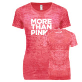 Next Level Ladies Junior Fit Fuchsia Burnout Tee-More Than Pink