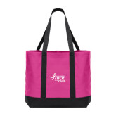 Tropical Pink/Dark Charcoal Day Tote-Susan G. Komen Race for the Cure