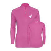 Ladies Syntrel Interlock Raspberry 1/4 Zip-Ribbon