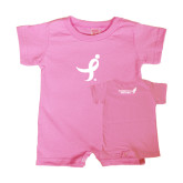 Bubble Gum Pink Infant Romper-Ribbon