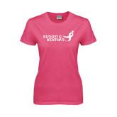 Ladies Fuchsia T Shirt-Susan G. Komen
