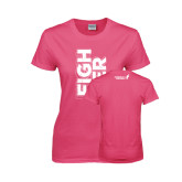 Ladies Fuchsia T Shirt-Fighter