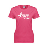 Ladies Fuchsia T Shirt-Susan G. Komen Race for the Cure