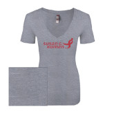 Next Level Ladies Vintage Heather Tri Blend V Neck Tee-Susan G. Komen