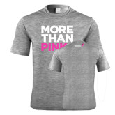 Performance Grey Heather Contender Tee-More Than Pink