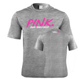 Performance Grey Heather Contender Tee-Pink More Than A Color