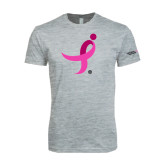Next Level SoftStyle Heather Grey T Shirt-Ribbon