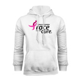 White Fleece Hood-Susan G. Komen Race for the Cure