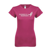 Ladies SoftStyle Junior Fitted Fuchsia Tee-Susan G. Komen