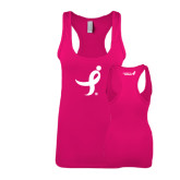 Next Level Ladies Raspberry Jersey Racerback Tank-Ribbon