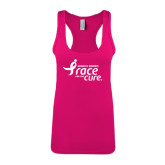 Next Level Ladies Raspberry Ideal Racerback Tank-Susan G. Komen Race for the Cure
