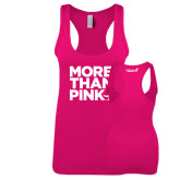 Next Level Ladies Raspberry Jersey Racerback Tank-More Than Pink
