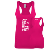 Next Level Ladies Raspberry Jersey Racerback Tank-Join The Fight.