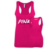 Next Level Ladies Raspberry Jersey Racerback Tank-Pink More Than A Color