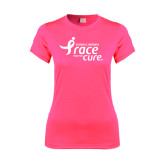 Ladies Performance Hot Pink Tee-Susan G. Komen Race for the Cure