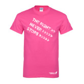 Cyber Pink T Shirt-The Fight Never Stops